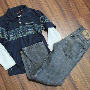 Boy's Quicksilver shirt and Levis jeans